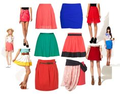 bright skirts