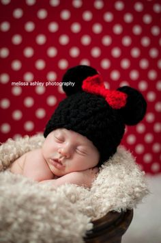 Mickey or Minnie Mouse Inspired Beanie Cap