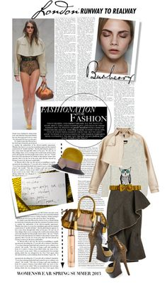 """""""Burberry SS13 Reveal"""" by carlottabruni ❤ liked on Polyvore"""