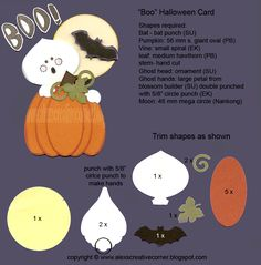 "Alexs Creative Croner - ""Boo"" punch art Halloween card"