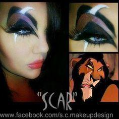 Disney Villain Scar Lion King inspired eye makeup for Halloween