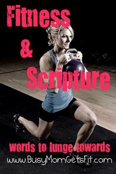 Fitness  Scripture // Scriptures to inspire