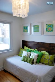 guest bedrooms, offices, headboards, flower baskets, diy headboard, guest room office, daybeds, guest rooms, twin bed