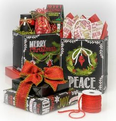 Chalkboard Wishes Christmas Collection from Nashville Wraps! See Nashville Wraps entire Chalkboard gift wrapping collection! #chalkboard