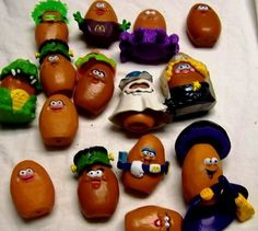 90s McNugget toys from the McDonalds Happy Meal #90s