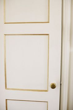 Gold trimmed door