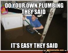 Laundry Room Viking: Do your own plumbing they said...