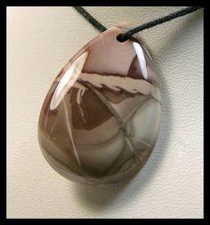 Designer Teardrop  Willow Creek Jasper Focal Bead