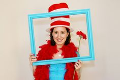 photo props, photo booths, picture frames, dr suess, shower idea