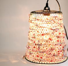 Wire Waste Basket to Lamp