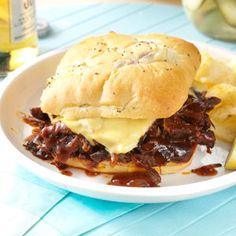 Tex-Mex Shredded Beef Sandwiches