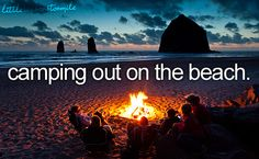 camping out on the beach