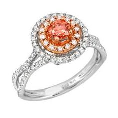 Click Image Above To Purchase: 14k Two-tone Gold 3/4ct Tdw Pink And White Diamond Ring (g-h, Si2)