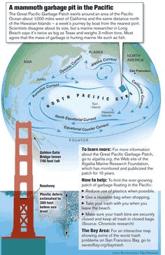 Plastic Trash in the Ocean as Far as One Can See: Feds Want to Survey, Possibly Clean Up Vast Garbage Pit in Pacific JUSTIN BERTON / San Francisco Chronicle 30oct2007