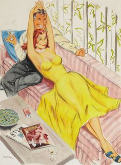 Playboy cartoon illustration, page 31, August 1955