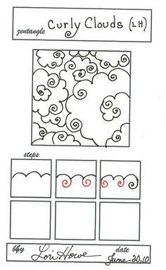 curlycloud, zentangl inspir, zentangle clouds, doodle clouds, art zentangl, clouds doodle, zentangl patternsidea, cur cloud, zentangle patterns