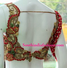 Party Wear Blouse with Intricate Work Celebrity Sarees, Designer Sarees, Bridal Sarees, Latest Blouse Designs 2014 South India Fashion