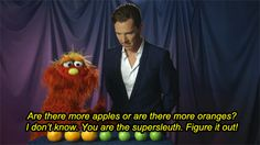 Can Benedict Cumberbatch solve this case? #SesameStreet #Murray #Math
