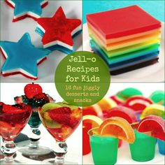 Jell-O Recipes for Kids - 16 fun jiggly desserts and snacks - There's always room for Jell-O - Especially when it's this much fun! Talk about a Fun Food!^-+=>[:(