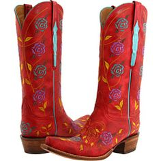 Red boots! (Lucchese boots)