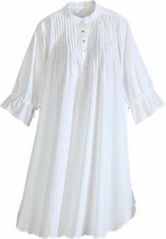Under costume idea.   Victorian Nightgown   Pintuck Cotton Lawn