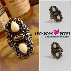 Antique Rare Woman Castle Carved Vertical Knuckle Ring