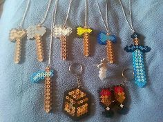 Lot 10 Diamond Sword Keychain Minecraft Terraria Inspired Party Favors | eBay