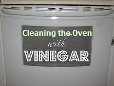 How to clean your oven with vinegar. #cleaning
