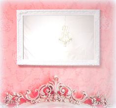 FRENCH COUNTRY MIRRORS For Sale Vintage White by RevivedVintage, $224.00