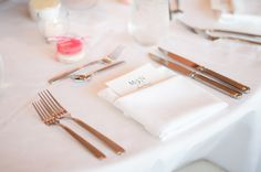menu in folded napkin