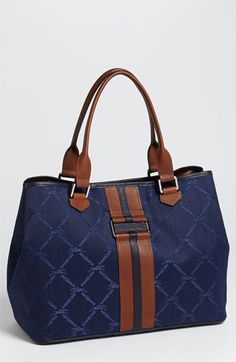 Navy Longchamp LM Small Horse Monogrammed Bag