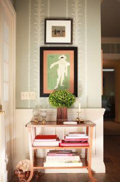 art in foyer