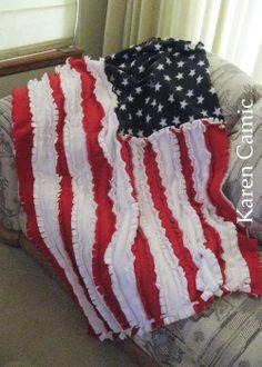 Rag Flag made from fleece