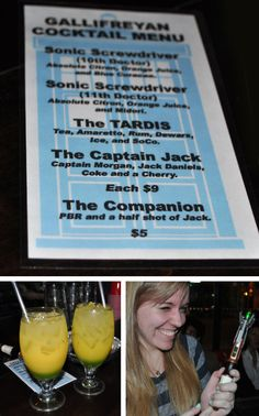 Doctor Who Drink Ideas.