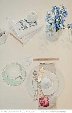 Watercolour Tea Party {Table Decor} | The Pretty Blog