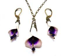 Picasso Calla Lily Jewelry Set