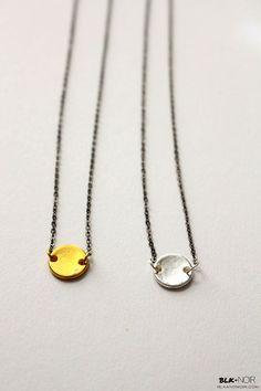 BLK AND NOIR JEWELRY - Plain Disc Necklace - SOFIE NOIR, $21.00 (http://www.blkandnoir.com/plain-disc-necklace-sofie-noir/)