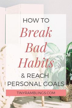 Break bad habits and reach personal development goals by tracking your habits. How habit tracking can help you initiate positive changes in your life. #selfdevelopment #habits #selfimprovement #changeyourlife #habittracker