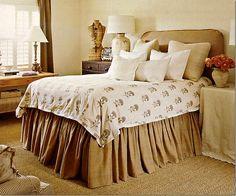 guest room, grey bedrooms, design bedroom, bedroom decor, burlap bedskirt, barber, bed skirts, burlap bedroom, bedroom designs