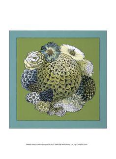 iii print, bouquet iii, bouquets, celadon bouquet, iii poster, chariklia zarri