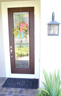 How to Stain Your Front Door in less than an hour - Step by Step Tutorial