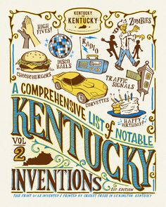 A Comprehensive List of Notable Kentucky Inventions - Volume 2 Printed and Invented by Cricket Press in Lexington Kentucky.