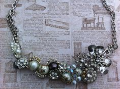 Handmade, one-of-a-kind, vintage necklace.  Check it out at glamtiquing.etsy.com