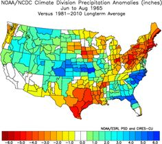 Here is the precipitation departure potential for June to August 2014