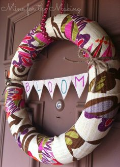 WE LOVE THIS WREATH! @Kara Morehouse Rodgerson made it out of @HGTV HOME fabrics