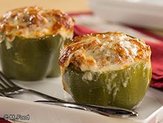 Italian Stuffed Bell Peppers - A healthy weeknight dinner option. Add in other veggies as you see fit.