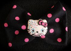 Hello Kitty Sugar Skull Hair Clip or Headband  www.jaebellaboutique.etsy.com