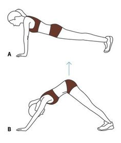 Circuit-Training Move: The Pike Up works your core, chest, and arms.