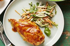 Barbecue chicken with carrot-zucchini slaw main image