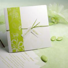 faire part mariage vert et blanc more de diptico de mariage to share ...